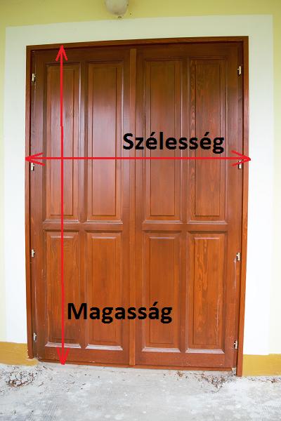 Négyzetméter és terület kiszámítása ajtó
